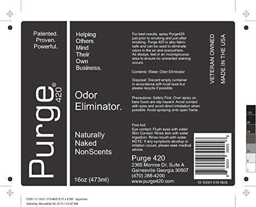 Amazon com: Purge, Odor Eliminator, 16oz, Naturally Naked NonScents