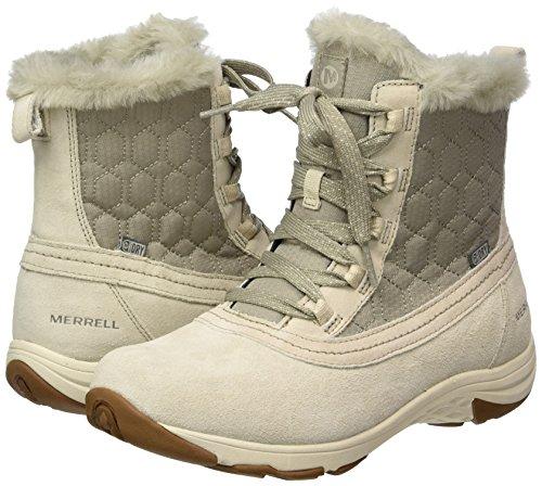Merrell Grau Schneestiefel Grey Waterproof Mid Ryeland Polar Damen Oyster rwqfrR