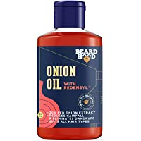 Beardhood Onion Hair Oil with Redensyl for Hair Growth Mineral Oil & Paraben Free (100ML)