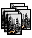 MeiC 6 Pack 11x17'' Wall Mounting Picture Photo Frames for Home Decoration Black