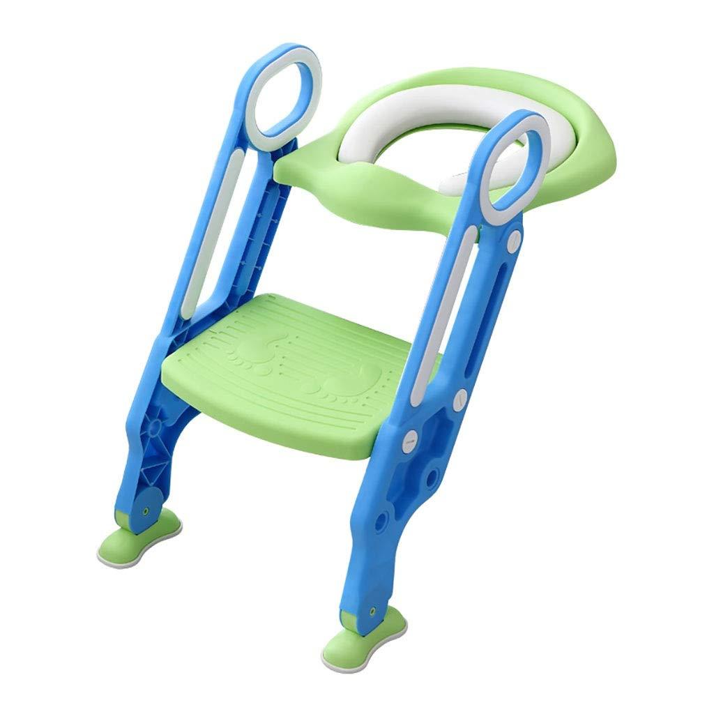 Kindersitz Potty Training gelb weich und bequem Toilettensitz f/ür Kinder mit Klappleiter