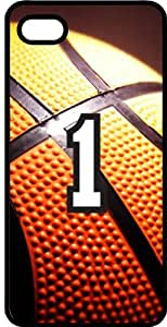Basketball Sports Fan Player Number 01 Black Plastic Decorative iPhone 5/5s Case by lolosakes