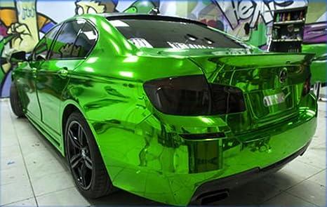 Stretchable Verde Cromo per applicazione 3d car wrapping, Pellicola a Specchio, cromato Schermo speedwerk-motorwear