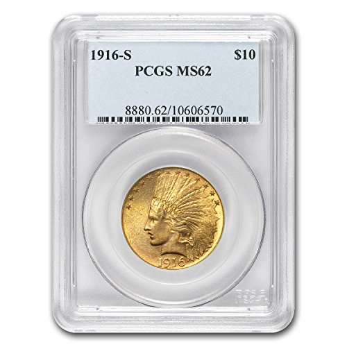 1916 S $10 Indian Gold Eagle MS-62 PCGS G$10 MS-62 PCGS