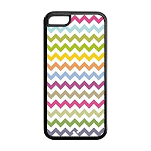 Fashion Protector Design Colors Chevron Straight Stripes Pattern Back Hard Cover Case For iPhone 5c