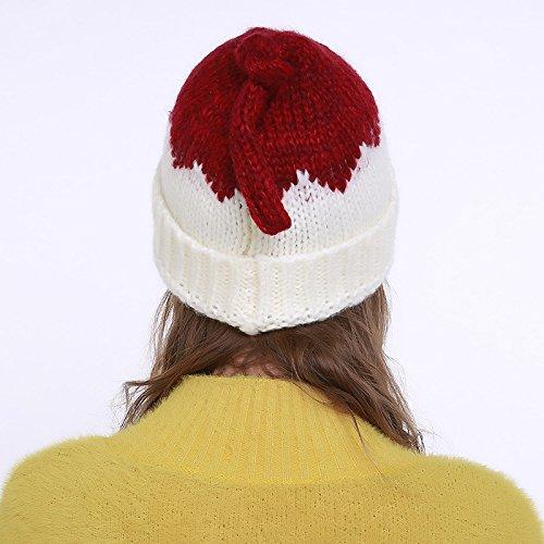 Acvip Bonnet Blanc Tresser Chapeau Automne 1 Hiver style Chaud Tricoté Femme Outdoor rUzxqnw6r5