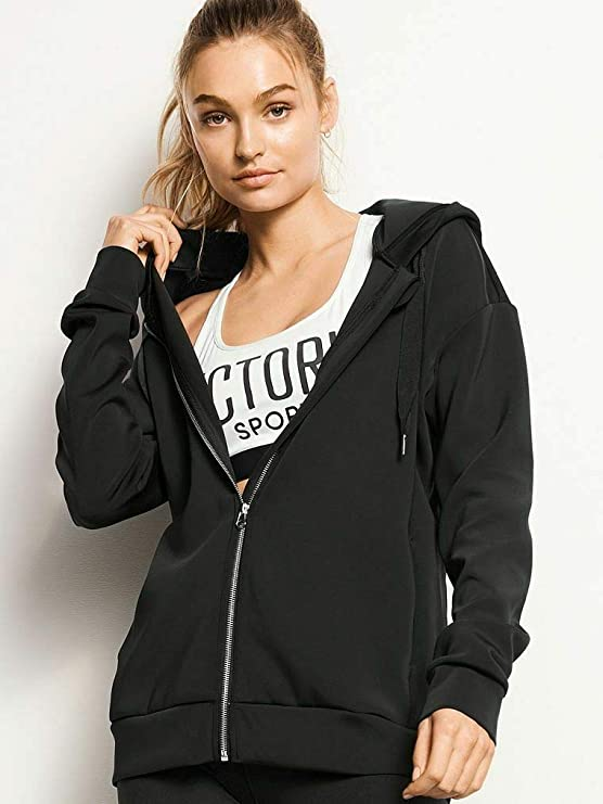 Details about  /Victoria/'s Secret Black /& White Graphic NY VS Full Zip Hoodie
