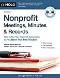 img - for Nonprofit Meetings, Minutes & Records: How to Run Your Nonprofit Corporation So You Don't Run Into Trouble book / textbook / text book