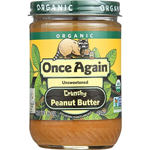 Once Again Crunchy Peanut Butter - Organic - 16 oz - case of 12 - Unsweetened - Non GMO by Onceagain (Image #1)