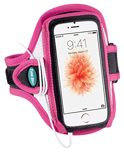 Armband for iPhone SE, 5, 5s, 5c & iPod touch 6, 5 - Great for Running, Jogging & Sports – Ultra Reflective, Sweat-Resistant Design [Pink]