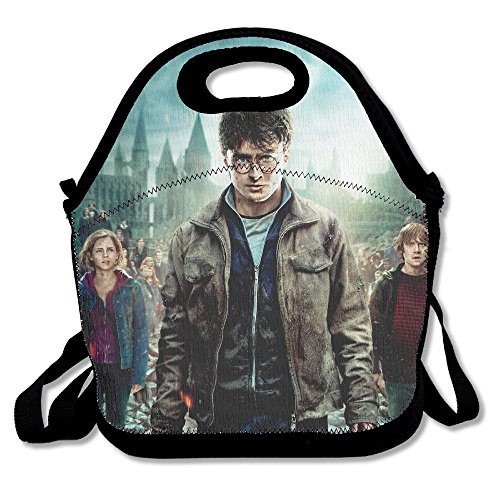 Harry Potter Lunch Bag Lunch Boxes, Waterproof Outdoor Travel Picnic Lunch Box Bag Tote With Zipper And Adjustable Crossbody Strap