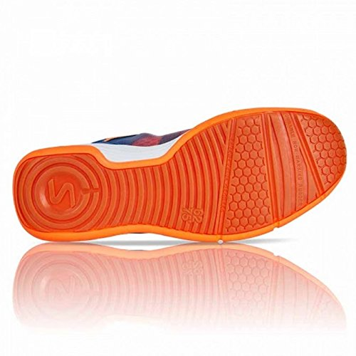 Salming Men's Falco Squash Indoor Court Sports Shoes, Limoges Blue/Orange Flame, 7.5