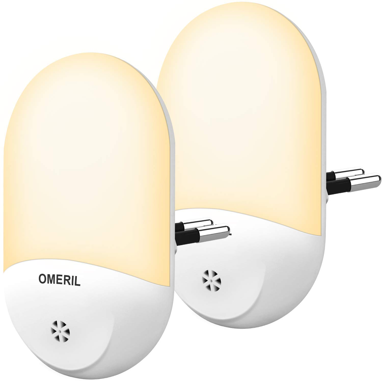 OMERIL 2 luces nocturnas con sensor
