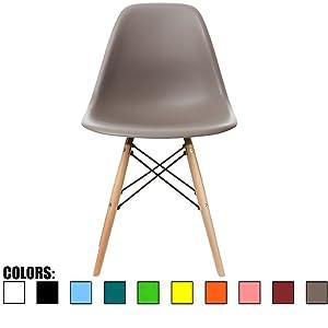 2xHome CH-RayLeg(Grey) Dining Chair