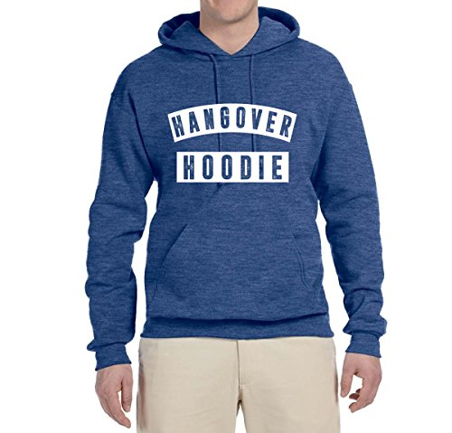 (Hangover Hoodie | Humor Drinking Night Out | Unisex Hooded Sweatshirt Graphic Hoodie, Vintage Heather Blue, Large)
