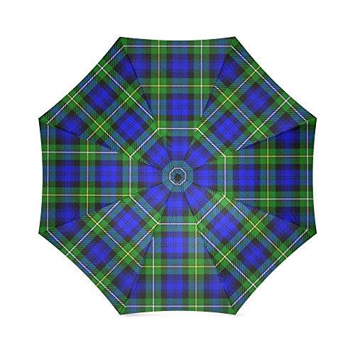 (Scottish Tartan Plaid Pattern Folding Rain Umbrella/Parasol/Sun Umbrella)