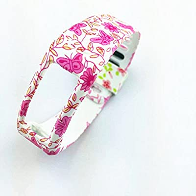 Colorful Spots Replacement Wrist Band for Garmin Vivofit (No Tracker, Replacement Bands Only) (Flower-005, Small)