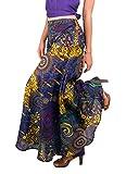 Tropic Bliss Women's Palazzo Pant, Dark Purple Hippie Style XXL