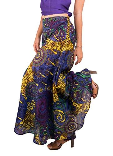 Tropic Bliss Women's Palazzo Pant, Dark Purple Hippie Style XL by Tropic Bliss