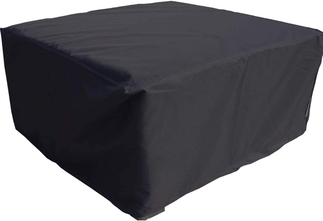 FLR 48x48x29in Patio Table Cover Square Black Waterproof Outdoor Dinner Protector Dust-Proof Table Desk Cover Furniture Covers with Storage Bags for Garden Outdoor Indoor Furniture