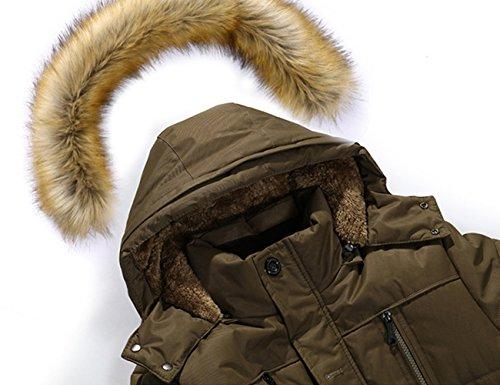 Para Hombres Invierno Abrigo Chaqueta Glestore Grueso Capucha Manga Del Calor Larga Con Tawny Bolsillos wxf6EttH