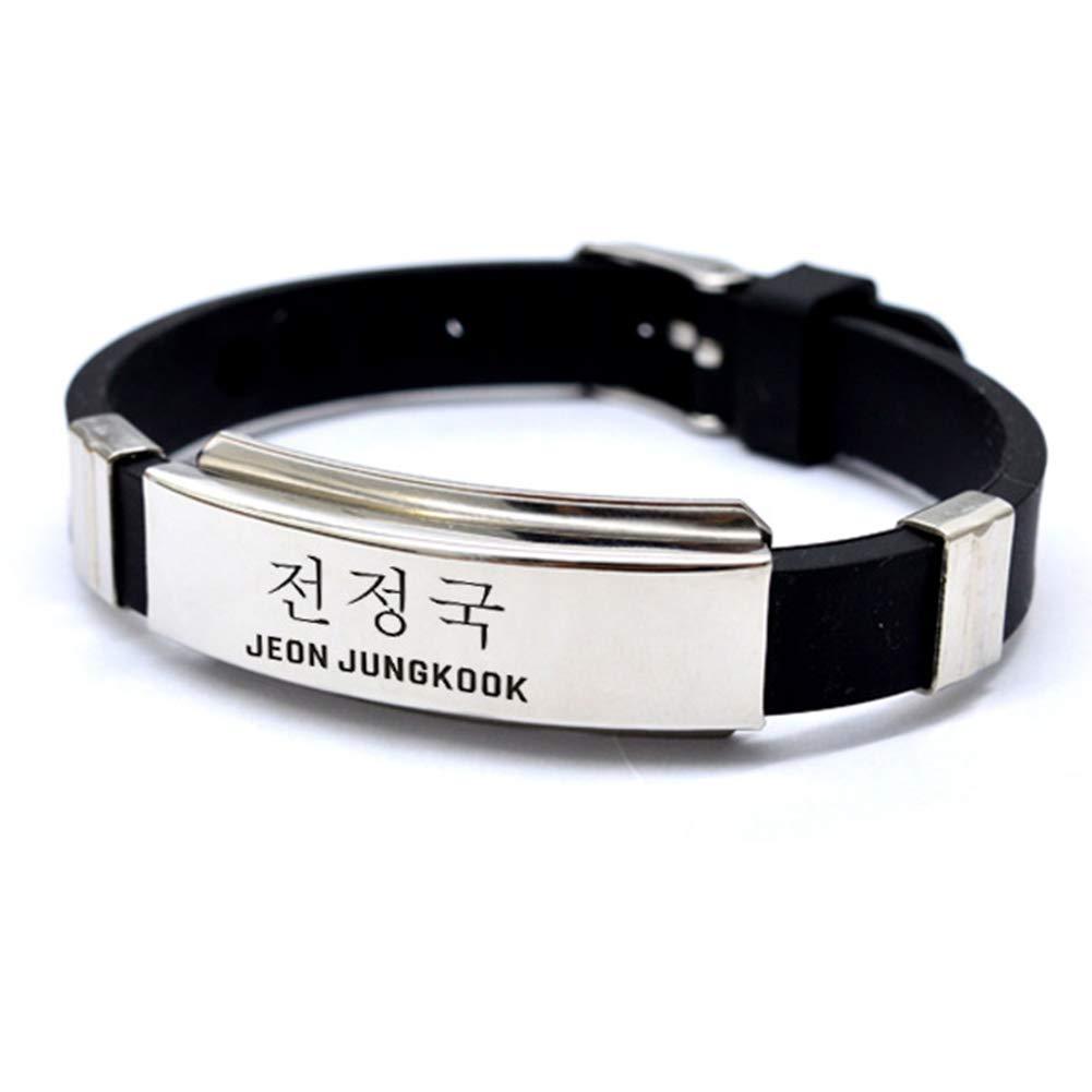 ARMY GOTH Perhk Kpop BTS Bangtan Boys Bracelet SUGA JIMIN V Wristband Fashion Jewelry for Unisex