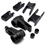 """Heavy Metal Suspensions - Fits 2006-2010 Hummer H3 and 2004-2012 Chevy Colorado/GMC Canyon 3.5"""" Front Torsion Keys + Torsion Key Spacers + 2"""" Rear Lift Shackles + Shock Extenders Lift Kit"""