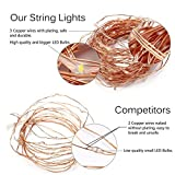 12APM Waterproof Starry String Fairy Lights USB Powered Hanging LED Docor Bedroom Indoor Outdoor 33Ft Copper Wire 100 LEDs Warm White Ambiance Lighting Patio Wedding Christmas (2)