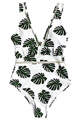 Fantastic Zone Womens Fashion The Forest Floral One-Piece Swimsuit Beach Swimwear One Piece Bathing Suits For Women