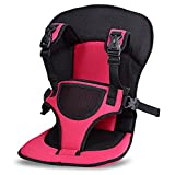 Safety Seat Portable Car Cushion Baby Car With Belt Baby Seat Belt Rose Red