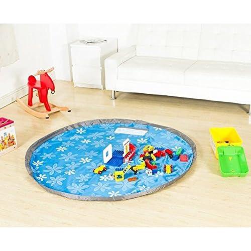 HXLONG 150cm Kinder Aufräumsack Spieldecke Spielzeug Speicher Tasche Aufbewahrung Beutel Spielzeugaufbewahrung,Spielzeug-Aufbewahrungsbeutel