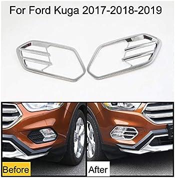 2 X Auto Nebelscheinwerfer Abdeckung Chrom Für Kuga 2017 2018 2019 Auto