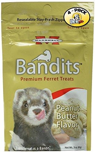 Ferret Peanut Butter (Marshall Bandits Ferret Treat, 3-Ounce, Peanut Butter (Pack of 4))