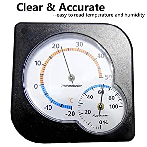 BOEESPAT 2-Pack Mini Accurate Indoor Thermometer Hygrometer Temperature Humidity Monitor Gauge for Home, Room, Kitchen, Patio, Planting Room, Reptile Terrariums (No Battery Needed)