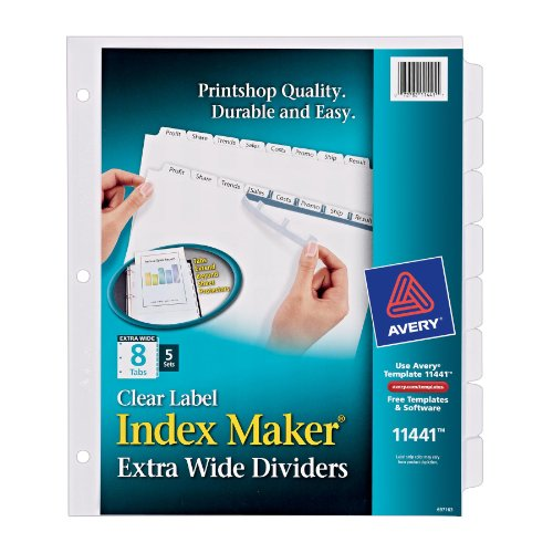 Avery Extra Wide Dividers Printer 11441