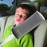 Valuetom Seatbelt Headrest Pillow Cover Shoulder Pad Comfy Support Car Pillow for Kids(Gray)