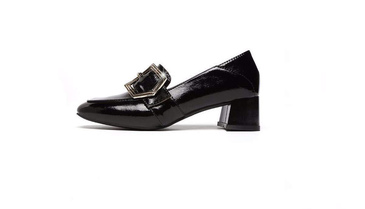 KOKQSX-Leder - knöpfe Niedrige absätze lässige Schuhe Schuhe Meine Schuhe 36 schwarz