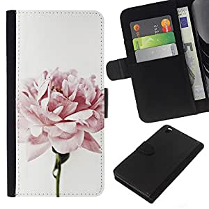 Stuss Case / Funda Carcasa PU de Cuero - Light Pink Rose P¨¦talos Jard¨ªn de las Flores - HTC DESIRE 816
