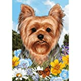 Cheap Best of Breed Summer Flowers Full Flag – Yorkshire Terrier – Puppy Cut
