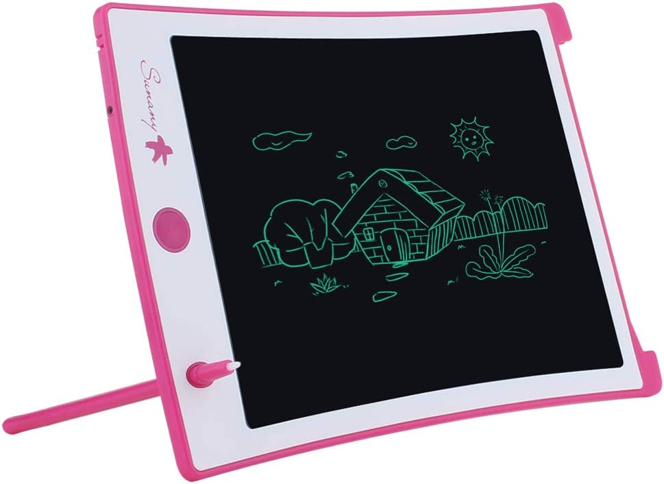 Blue Electronic Drawing Board and Doodle Board Gifts for Kids at Home and School LCD Writing Tablet