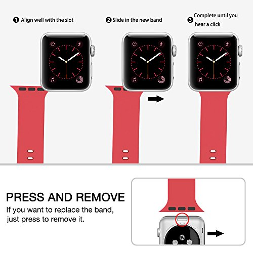 For apple watch band 38mm 42mm Soft Silicone Replacement iWatch strap for Apple Watch Series 3 Series 2 Series 1