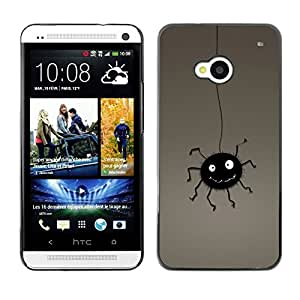 Slim Design Hard PC/Aluminum Shell Case Cover for HTC One M7 Funny Bug / JUSTGO PHONE PROTECTOR