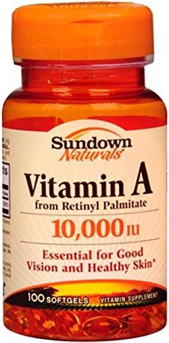 Sundown Vitamin A 10,000 IU Softgels 100 Soft Gels