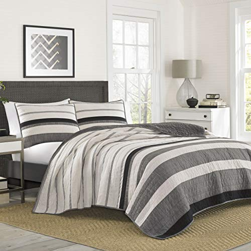 Nautica Kelsall Quilt, Twin, Charcoal