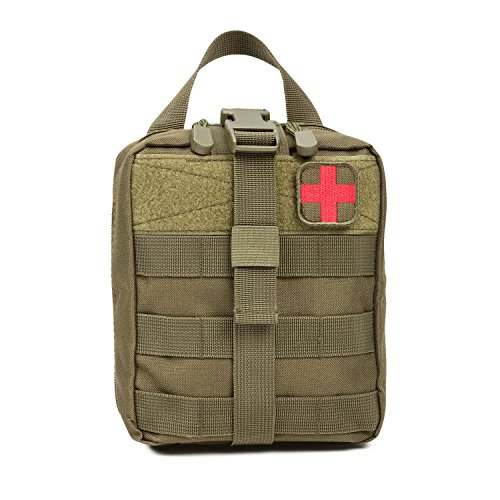 (Orca Tactical MOLLE Rip-Away EMT Medical First Aid Pouch (Bag Only) (OD Green))
