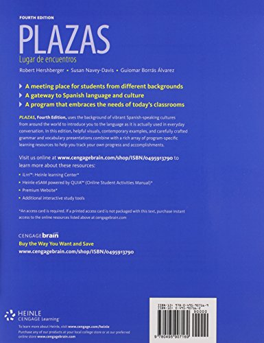 Bundle: Plazas, 4th + iLrn™ Heinle Learning Center Printed Access Card
