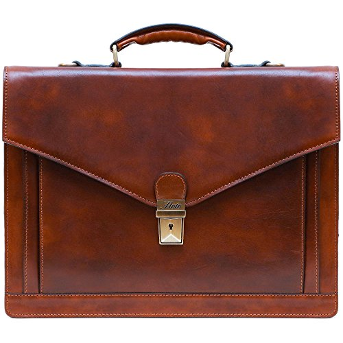 Floto Ponza Grain Leather Briefcase product image
