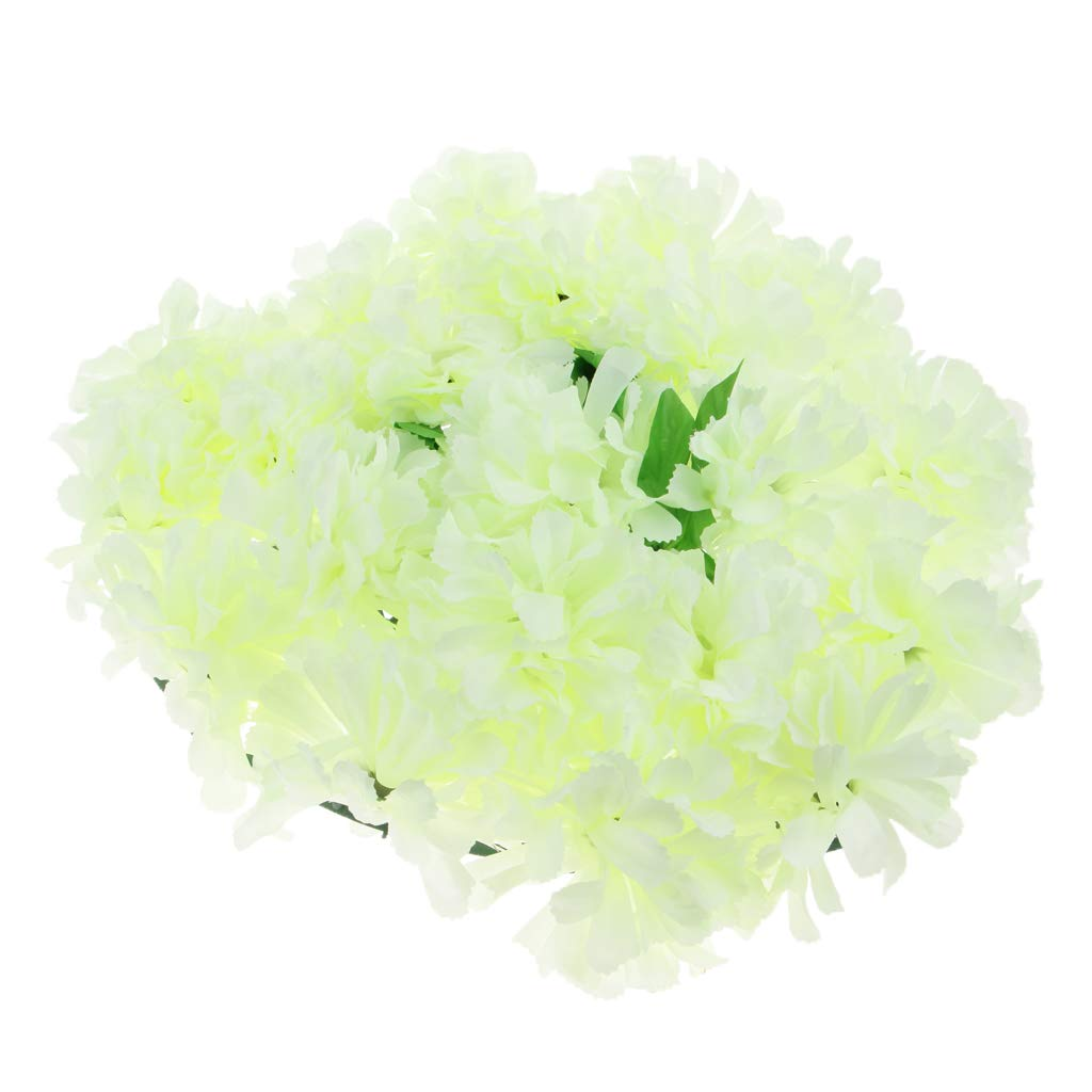 Baoblaze-Artificial-Chrysanthemum-Heart-Wreath-Funeral-Memorial-Aisle-Main-Road-Flower-Pillar