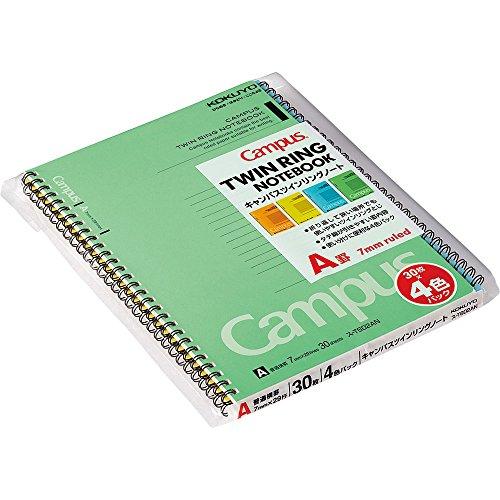 30-T602A mice Kokuyo Twin Ring Notebook 4 books pack No. 6 semi-B5 A ruled line (japan import) by Kokuyo Co., Ltd.