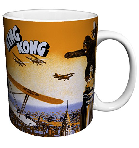 Empire Mug - King Kong Empire State Building Orange Classic Hollywood Monster Movie Film Ceramic Gift Coffee (Tea, Cocoa) 11 Oz. Mug